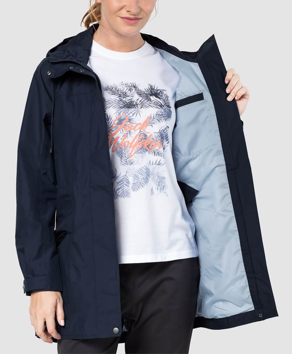 for whole family reliable quality outlet on sale Женская парка JACK WOLFSKIN CAMEIA PARKA MIDNIGHT BLUE
