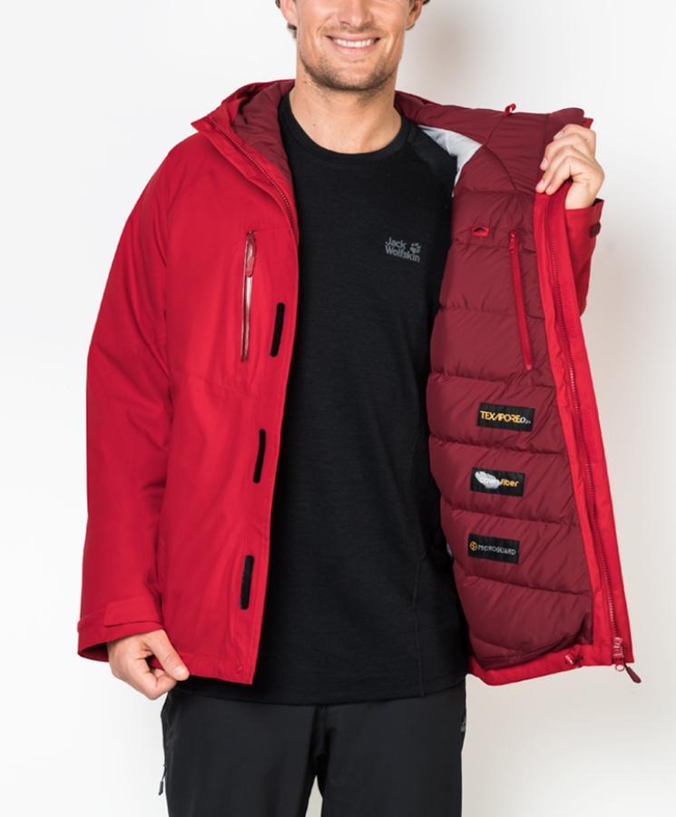 toller Rabatt für Freiraum suchen tolle Auswahl Мужская утепленная куртка JACK WOLFSKIN TROPOSPHERE MEN RUBY RED